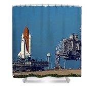 Space Shuttle Roll-around Shower Curtain