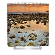 Spain Africa And Gibraltar In One Shot Shower Curtain