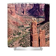 Spider Rock In Canyon De Chelly Shower Curtain