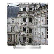 Spiral Staircase In The Francois I Wing - Chateau Blois Shower Curtain