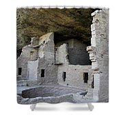 Spruce Tree House Dwellings Shower Curtain