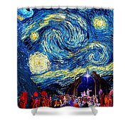 Starry Night In Bethlehem Shower Curtain
