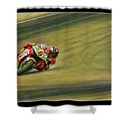 Stefan Bradl Uses His Elbow Shower Curtain