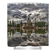 Stone Flower Moscow Shower Curtain