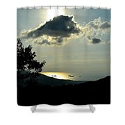 Sunset At Five Islands Shower Curtain