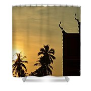 Sunset In The Tempel Shower Curtain