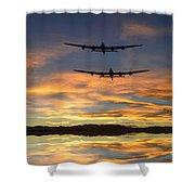 Sunset Lancasters Shower Curtain
