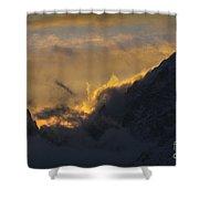 Sunset Peaks Shower Curtain