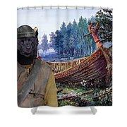 Swedish Lapphund Art Canvas Print  Shower Curtain