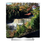 Tahquamenon Falls In Autumn Shower Curtain