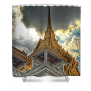 Temple Roof Shower Curtain