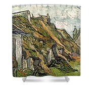 Thatched Cottages In Chaponval Shower Curtain
