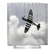 The Blue Spitfire Shower Curtain