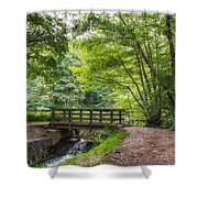 The Bridge Birches Valley Cannock Chase Shower Curtain