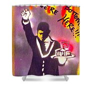 The Butler From The Bottom Shower Curtain