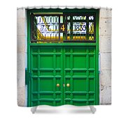 The Doors Of Madrid Spain Xii Shower Curtain
