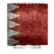 The Flag Of The Kingdom Of Bahrain Vintage Version Shower Curtain