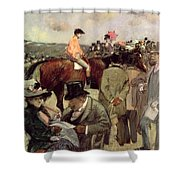 The Horse Race Shower Curtain by Jean Louis Forain