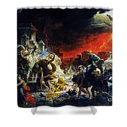 The Last Day Of Pompeii Shower Curtain