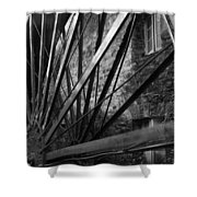 The Old Mill-black And White Shower Curtain