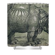 The Rhinoceros Shower Curtain