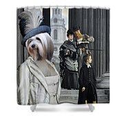 Tibetan Terrier Art Canvas Print Shower Curtain