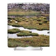 Titcomb Basin Marsh Shower Curtain