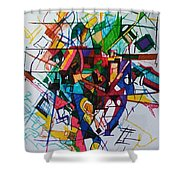 Tzadik 1 Shower Curtain
