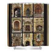 Uk Doors Shower Curtain by Christo Christov