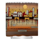 Urban Landscape Shower Curtain
