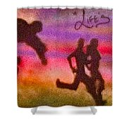 Venice Beach To Santa Monica Shower Curtain