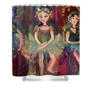 Victorian Christmas Ballet Shower Curtain