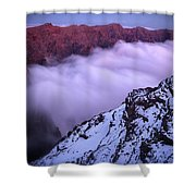 View Across The Caldera Taburiente Shower Curtain