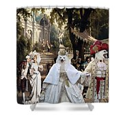 Volpino Italiano Art Canvas Print Shower Curtain