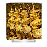 Wat Phra Kaeo Temple - Bangkok - Thailand.  Shower Curtain