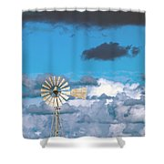 Water Windmill Shower Curtain