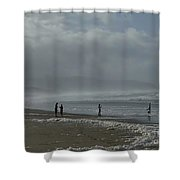 Wave Handstand  Shower Curtain