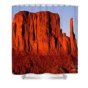 West Mitten Sunset Shower Curtain