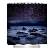Where Dreams Begin Shower Curtain