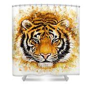 Wild Tiger Shower Curtain