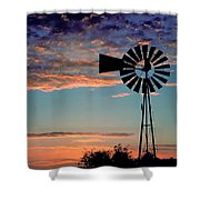 Windmill At Dawn Shower Curtain