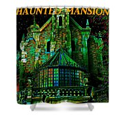 Haunted Mansion Poster Work A Shower Curtain