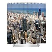 0001 Chicago Skyline Shower Curtain