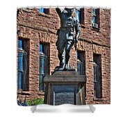 001 American Doughboy Over The Top To Victory Shower Curtain