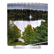 001 Hoyt Lake Autumn 2013 Shower Curtain