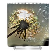 001 Make A Wish At Sunset With Text Shower Curtain