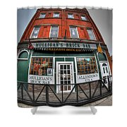 001 Mulligans Brick Bar Shower Curtain