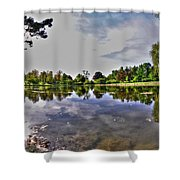 001 Reflecting At Forest Lawn Shower Curtain