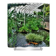 001 Within The Rain Forest Buffalo Botanical Gardens Series Shower Curtain