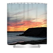 0010 Awe In One Sunset Series At Erie Basin Marina Shower Curtain